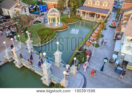 Bangkok, Thailand - 30 January 2016 : Landscape photo of Chocolate Ville. The restaurant for tourism at Bangkok, Thailand.