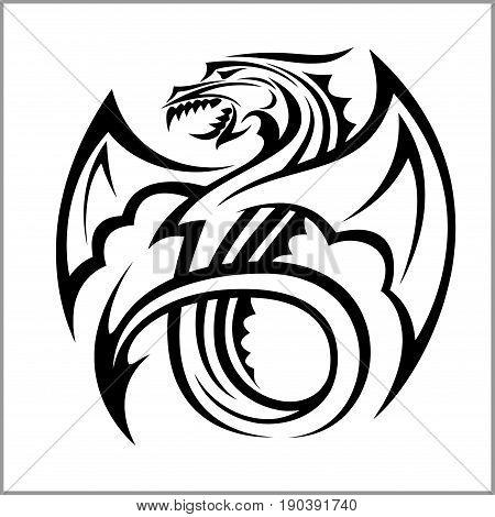 Dragon logo, Dragon, Vector Logo Template isolated on white