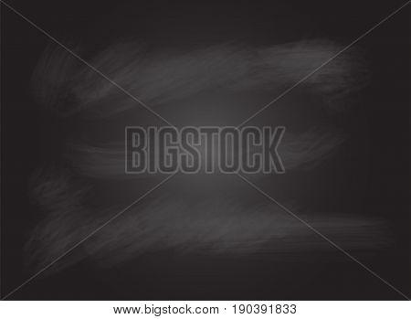 Blank black board, blackboard, chalkboard with no wood frame, empty chalkboard - vector illustration