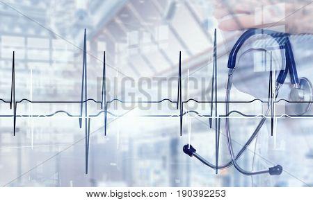 Modern medicine cardiology concept . Mixed media