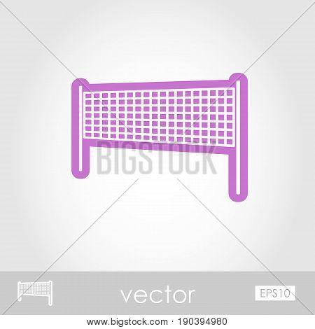 Volleyball net beach sport outline vector icon. Beach. Summer. Summertime. Vacation eps 10