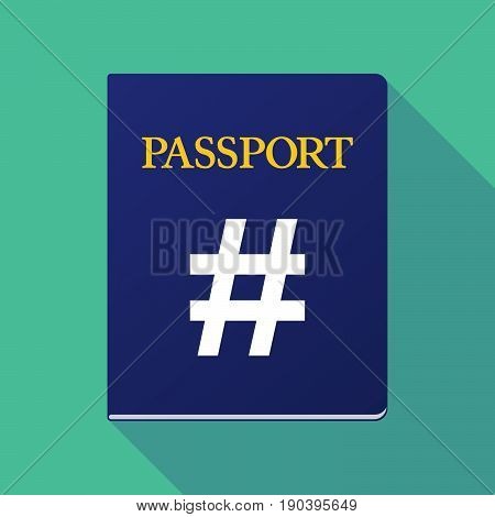 Long Shadow Passport With A Hash Tag