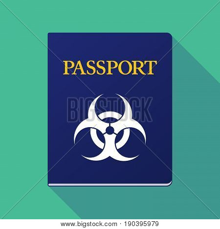 Long Shadow Passport With A Biohazard Sign