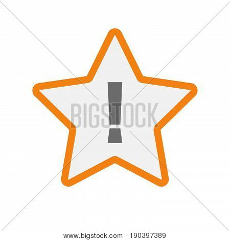 Isolated Star With An Admiration Sign