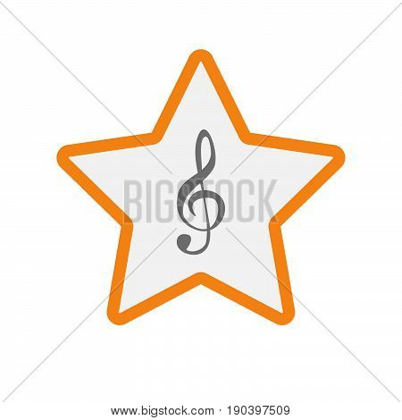 Isolated Star With A G Clef