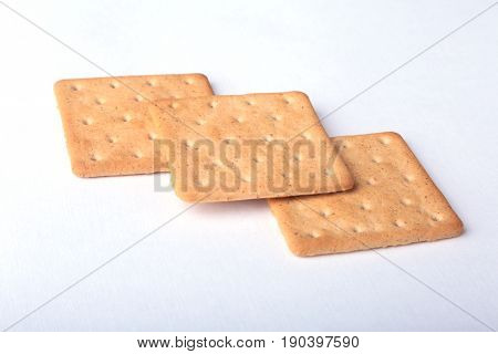 Rye crispbread isolated on a white background.