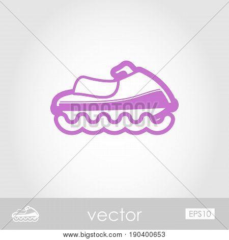 Jet Ski outline vector icon. Beach. Summer. Summertime. Vacation eps 10