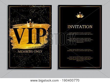 Abstract Luxury VIP Members Only Invitation Background Vector Illustration EPS10