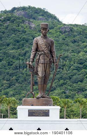 Ratchapak Park, Hua Hin, Prachuap Khiri Khan, Thailand. - OCTOBER 11, 2015 : King Rama 4 Phra Chom Klao Chao Yu Hua (Rattanakosin)