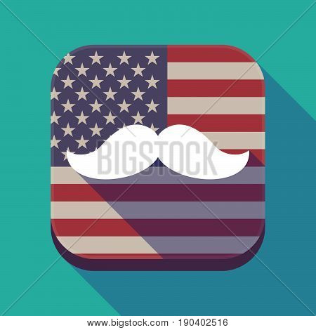 Long Shadow Usa App Button With A Moustache