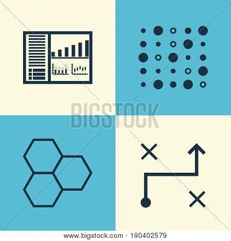 Icons Set. Collection Of Information Components, Variable Architecture, Solution And Other Elements. Also Includes Symbols Such As Solution, Algorithm, Arrow.