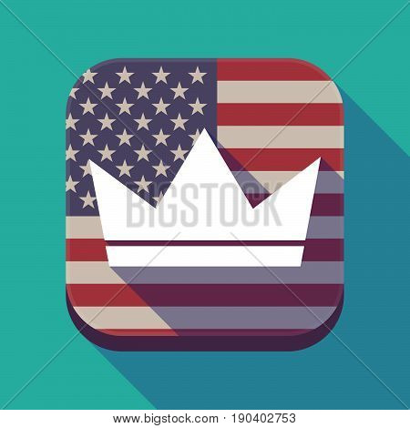 Long Shadow Usa App Button With A Crown