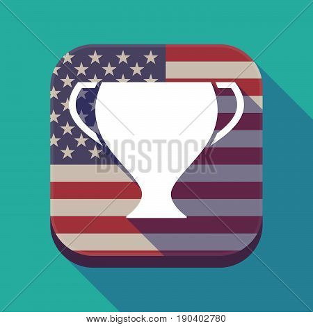Long Shadow Usa App Button With A Cup