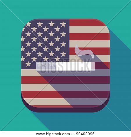 Long Shadow Usa App Button With A Cigarette
