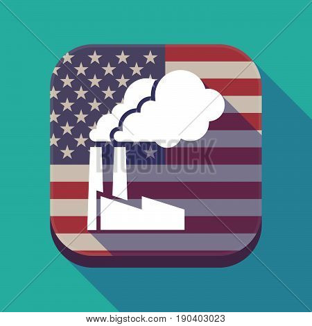 Long Shadow Usa App Button With A Factory