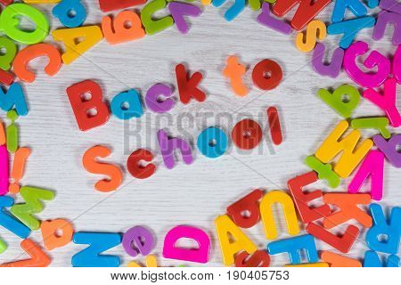 Bright Vibrant Back To School Concept