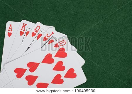 Winning Poker Hand With A Royal Straight Flush