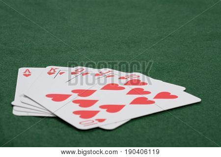 Gambling Concept With Winning Poker Hand