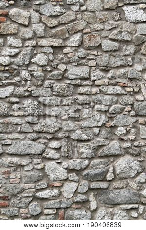 a stone wall as background