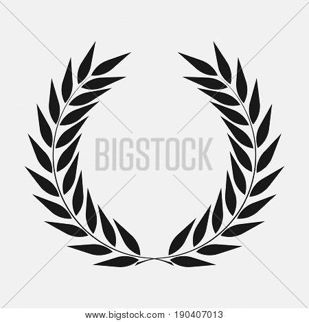 icon laurel wreath - vector illustration Black dark icon laurel