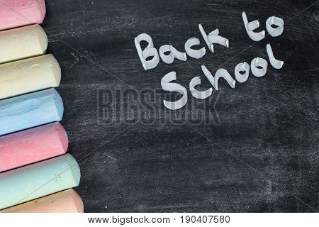 Back To School Concept With Chalk On A Board