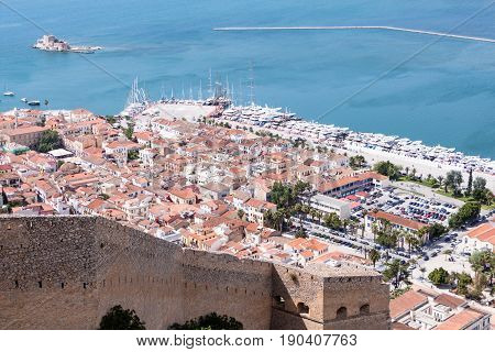 Nafplio Town Seen From Palamidi Castle, Greece