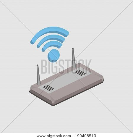 wi-fi router wireless technology mobile devices purchase sale of internet wireless coverage flat design vector image