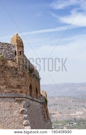 Part Of Palamidi Medieval Fortress, Nafplio, Greece