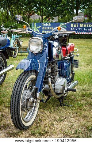 PAAREN IM GLIEN GERMANY - JUNE 03 2017: Standart motorcycle Honda Dream CB250. Exhibition