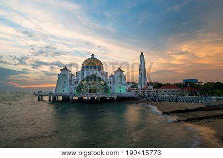 Malacca islam mosque is beutiful Malaysia islam mosque in Malacca Malaysia.