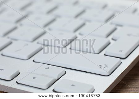 Close-up View Of White Keyboard