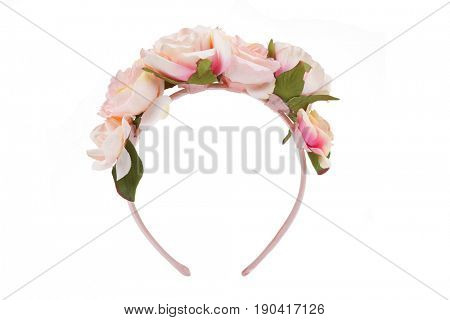 Flower wreath isolated on white
