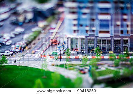 Miniature Views Around City Of Charlotte North Carolina
