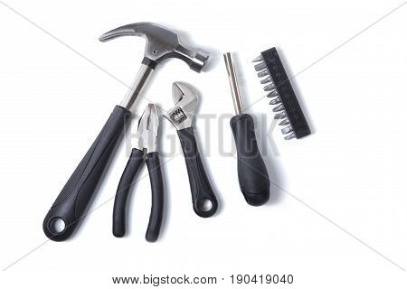 Set Of Hand Tools In A Diy Concept