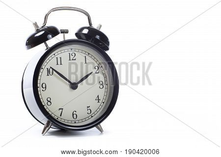 Round Retro Black Alarm Clock With Bells