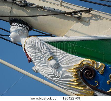 Galionsfigur, Schiff, Bug, Hamburg, Hafen, Sehenswürdigkeit,  Museumschiff