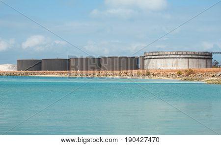 Gove Operations Bauxite Mine Alumina Refinery in Nhulunbuy, Arnhem land, Northern Territory of Australia.