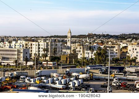 Tunisia.Tunisia.May 25 2017.Views of the surrounding area and the port of La Gullet in Tunisia