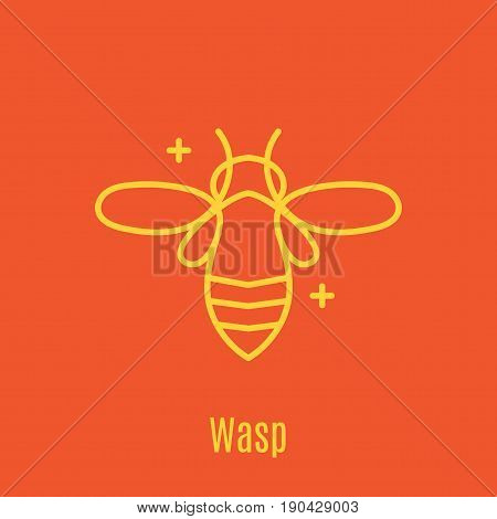Vector illustration of thin line icon bee honey stick for medicine, apitherapy, beekeeping products, cosmetics, soap. Linear symbol