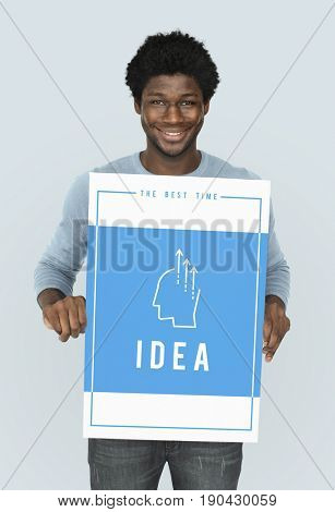 Showing creative ideas ability word graphic illustration