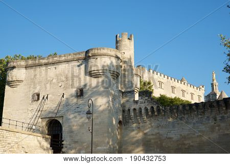Popes Palace in Avignon, Provence, France.