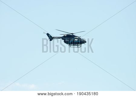 ATLANTIC CITY, NJ - AUGUST 17: Jeffstat Helicopter at the Annual Atlantic City Air Show on August 17, 2016