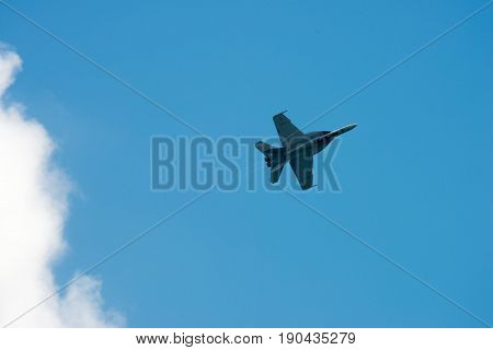 ATLANTIC CITY, NJ - AUGUST 17: View of Annual Atlantic City Air Show on August 17, 2016