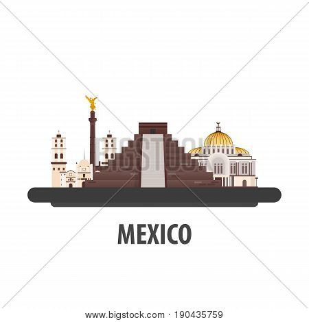 Mexico Travel Location. Vacation Or Trip And Holiday.