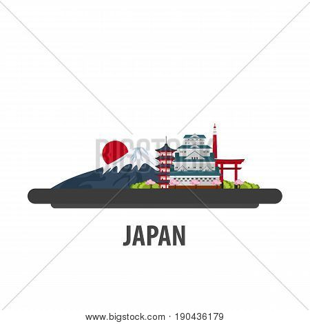 Japan Travel Location. Vacation Or Trip And Holiday.