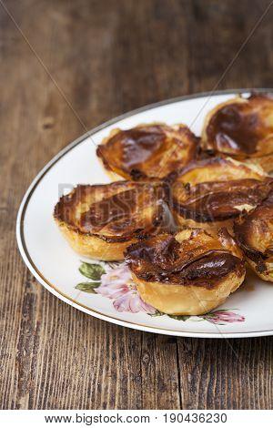 pasteis de nata a portugese delight on wood