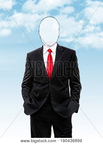 Faceless Businessman Hands In His Pocket