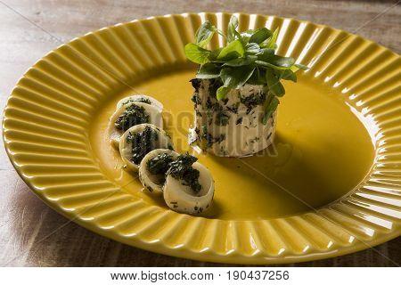 Pupunha Palm With Pesto And Watercress