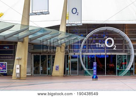 Peninsula Square Leading To The O2 Arena Entrance In London