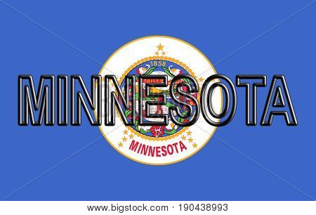 Flag Of Minnesota Word